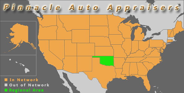 map oklahoma pinnacle auto appraiser appraisal dimished value